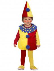 Disfraz de payaso para niño rojo y amarillo