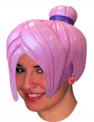 Peluca manga rosa adulto mujer