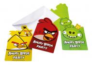 6 Tarjetas de invitación cartón Angry Birds™