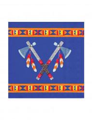 12 Servilletas pequeñas papel indios 25x25 cm