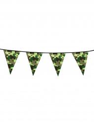 Guirlanda banderines papel camuflaje