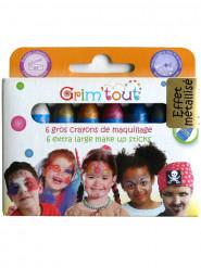 6 Lápices de maquillaje colores metálicos Grim Tout sin parabenos