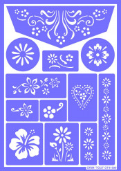 Plantilla de maquillaje reutilizable Flores