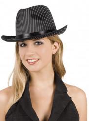 Sombrero de gánster a rayas