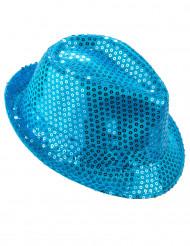 Sombrero lentejuelas azules