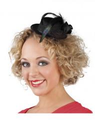 Mini sombrero negro mujer