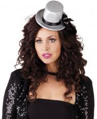Mini sombrero gris mujer