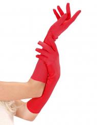 Guantes largos rojo
