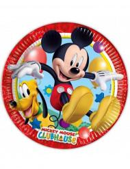 8 Platos de cartón Mickey Mouse™ 23 cm