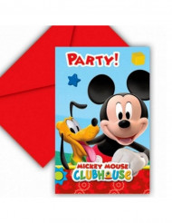 6 Tarjetas de invitación cartón Mickey Mouse™