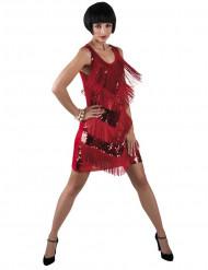Disfraz de charlestón rojo
