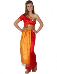 Disfraz de india naranja y rojo niña