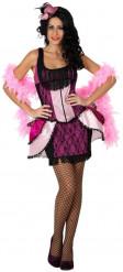 Disfraz de bailarina cabaret rosa