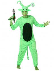 Disfraz de alien verde hombre