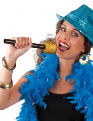 Micrófono de cantante dorado