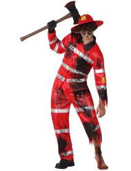 Disfraz de bombero zombie hombre