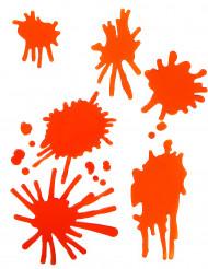 Manchas de sangre en gel