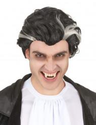 Peluca de vampiro negra y blanca hombre