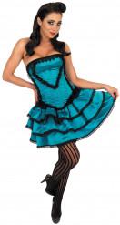 Disfraz de cabaret burlesco azul