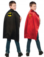 Capa reversible Batman™ y Superman™ niño