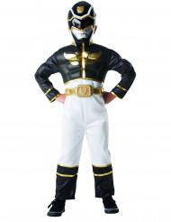 Disfraz de Power Rangers™ 3D negro niño