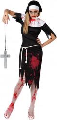 Disfraz de religiosa zombi mujer