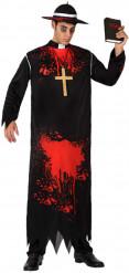 Disfraz de religioso zombi hombre