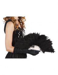 Abanico de plumas negro