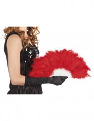 Abanico plumas rojas