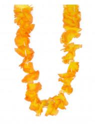 Collar hawaiano naranja