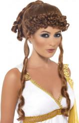 Peluca cobre diosa griega mujer