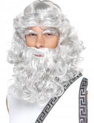 Peluca dios Zeus hombre