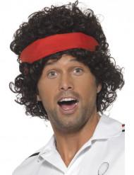 Peluca marrón jugador de tenis hombre