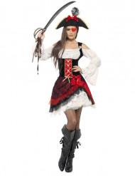 Disfraz de pirata glamour para mujer
