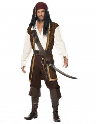 Disfraz pirata marrón hombre