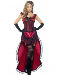 Disfraz bailarina salón sexy rojo mujer
