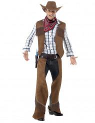Disfraz de vaquero hombre marrón