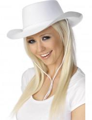 Sombrero vaquero blanco adulto