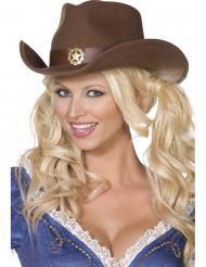 Sombrero vaquero sheriff adulto