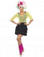 Disfraz años 80 pop mujer