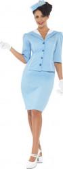 Disfraz azafata de vuelo mujer