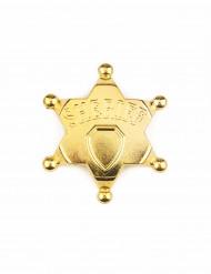 Estrella de sheriff oro adulto