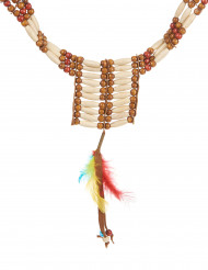 Collar indio mini plumas