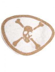 Parche pirata blanco y dorado