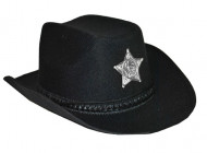 Sombrero de cowboy negro