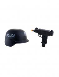 Kit casco y arma militar niño