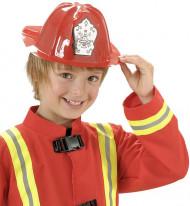Casco de bombero rojo niño
