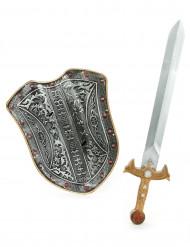 Kit escudo y espada caballero medieval niño