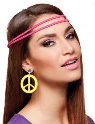 Pendientes hippie amarillos