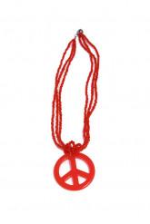 Collar hippie rojo